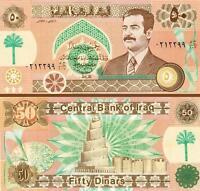 IRAQ 50 DINARS 1991 UNC- P.75 WITH SADDAM HUSSEIN