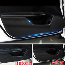 For Honda Civic 16+ Door Anti Kick Pad Protector Trim Film Carbon Fiber Leather