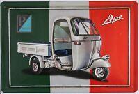 VESPA APE, BLECHSCHILD Italien , Roller , Retro