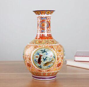 Jingdezhen Enamel Ceramic Vase Ming Qing Porcelain Chinese Antique Reproduction