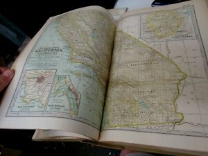 Century Dictionary Atlas Volume, 1911, Great Color Maps!