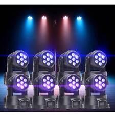 8PCS 105W RGBW Beam LED Moving Head Stage Lighting DMX512 Bar Club Party Light