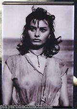 "Sophia Loren B & W Photo - 2"" X 3"" Fridge / Locker Magnet."