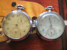 Early Kirovskie GChZ 2MWFpocket chronographs for repair or parts,30/40y of XXc