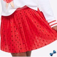Justice Girls Size 18 Red Metallic Dot Skort NWT