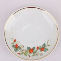 Vintage 1978 Avon Saucer Strawberries 22k Gold Trim  ~ Made in Brazil