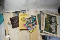 Vintage 1948-1970'S Paper Ephemera Booklet Lot Brochure Letter Lot T 35 PCS