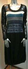 b.young Knitted Stripe lace dress size M (approx UK 12)