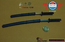 "1/6 SCALE Japanese Swords Samurai Katana Set for 12"" Figure Body Doll Hot Toys"