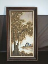 Original Framed Oil Painting Three Dimensional By C. Lewis Perez