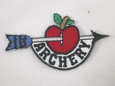 Archery Apple Arrow Embroidered Iron On Patch