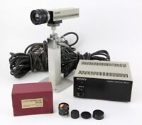 Sony AVC-D1 CCD Video Camera with Cosmicar TV Lens 8.5mm Japan Vintage Adapter