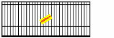 4m Single Gate for Sliding/Swing Dual Purpose Flat Top with Sqaures