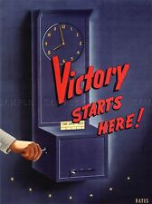 PROPAGANDA WAR TIME CARD PUNCH VICTORY STARTS HERE BATES ART POSTER PRINT LV7120