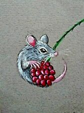 ACEO original miniature painting 'A Prickly Problem' by AlisonE