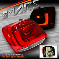 Clear Red 3D LED Stripe Bar Tail lights for VW Volkswagen Polo 6R 10-13 Hatch
