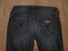 "Hudson Size 27 Flap Pocket Flare Dark Blue Stretch Denim Womens Jeans 30"" Inseam"