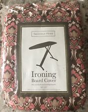 Sheffield Home Ironing Board Cover 54�x15� Brown / Coral Print New In Package!