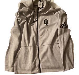 Adidas NCAA Indiana University ID Stadium Hoodie Jacket Size XL Grey EK1603 270