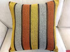 A pair of Linear orange & yellow stripe cushion covers. 55 x 55cm. New.
