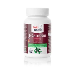 L-Carnosin 60 Kapseln 500 mg von ZeinPharma® - vegetarisch