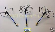 FPV Clover Leaf Omni-Directional Quad Polarized 2.4GHz Video Audio Antennas