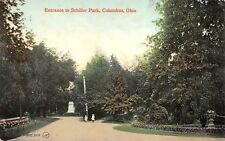 Columbus Ohio c1910 Postcard Entrance To Schiller Park
