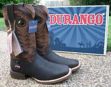 NEW Mens Durango Rebel Pro Brown Leather Square Toe Western Cowboy Boots DDB0217