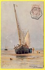 cpa ILLUSTRATEUR G. Ricard CORDINGLEY Sur le Sable Près BOULOGNE Cachet Timbre