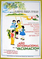 Vera Cortes Poster Cartel Ano Internacional De La Vacunacion 1981 Puerto Rico