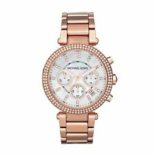 NEW MICHAEL KORS MK5491 LADIES ROSE GOLD PARKER WATCH - 2 YEAR WARRANTY