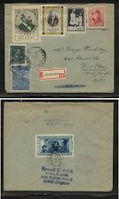 Belgium  nice registered cover   nice labels on cover  1948      KL0205-2