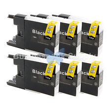 6 BLACK LC71 LC75 Compatible Ink Cartridge for Brother LC75BK HIGH YIELD LC71BK