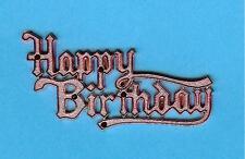 METALLIC PINK HAPPY BIRTHDAY MOTTO (Pk of 10) cake decoration, card making