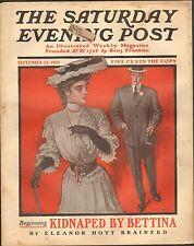 SEPT 23 1905 SATURDAY EVENING POST - magazine - WILL GREFE