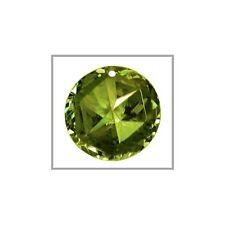 CZ Star Round Pendant Bead 18mm Olive Green #64414