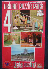 jigsaw puzzle 4 pack Cardinal 2000 windmill fall leaves country road boat fender