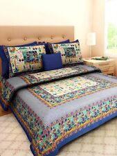 220 TC king size bed sheet with 2 zipper pillow cover set indian 100 % cotton