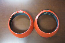 Used Porsche 911 912 Headlight Ring 1 Pair Red