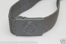 East German DDR Stasi Grey Nylon Belt adjustable to 44in L x 1 7/8in W E900