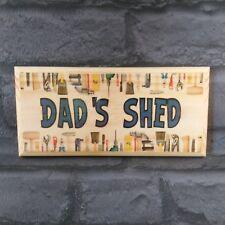 Dad's Shed Plaque / Sign / Gift - Tools Border Dad Workshop Grandad Man Cave 220