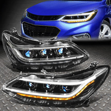 [LED DRL+SEQUENTIAL SIGNAL]FOR 16-19 CHEVY CRUZE HID PROJECTOR HEADLIGHT LAMPS
