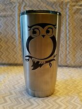Decal/Sticker for Cooler Cup/Wine Glass Cute Owl