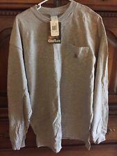 Carhartt Men's Workwear Pocket Long Sleeve Heather Gray T-Shirt Size Large K126