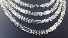 Massiv Königskette Flach Etrusker Silber 925 Sterlingsilber 8,5mm Halskette 65cm