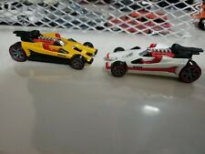 Hot Wheels Designers Challenge Yellow/ Black White/Red Honda Racer  NIP HTF LOT