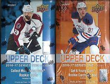 2016-17 Upper Deck Hockey 2- Box Factory Sealed Hobby Box Lot (Series 1 + 2)