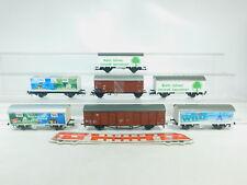 bm508-1 # 7x Roco H0 / DC Vagón de mercancía NEM :Tren Conducir + Wilo +