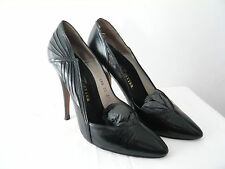 "Leather court shoes and Polish black ""1980"" - Line Setter T. 37,5"