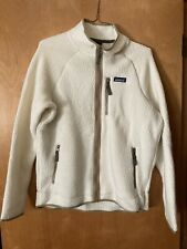 Patagonia Retro Pile Jacket Recycled Polyester Men Large New Ivory Oatmeal
